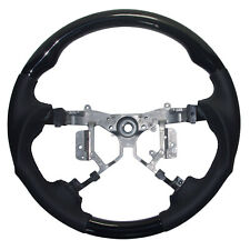 Black Leather Sports Steering Wheel for 2012-2014 Toyota Hilux Corolla Fortuner