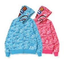 Lovers Bape A Bathing Ape Camo Shark Jacket Loose Hoodie Hooded Casual Coat New