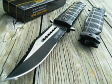 TAC FORCE SPRING ASSISTED OPEN TACTICAL SAWBACK BOWIE Rescue Pocket Knife