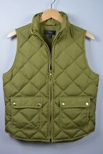 J. Crew Excursion Quilted Down Vest Irish Moss Olive Green NWOT Women's M Puffer