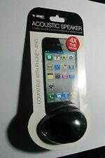 iphone 4/4s acoustic speaker Vibe Black Speaker 4X sound for iPhone 4 / 4S