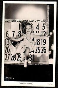 1930 SHIRLEY TEMPLE CALENDAR BACKGROUND REAL PHOTO POSTCARD MOVIE CINEMA STAR