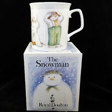 "THE SNOWMAN Royal Doulton MUG 3.6"" PLAYFUL SNOWMAN England NEW IN BOX NEVER USED"
