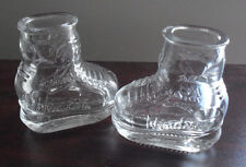 """Cool Lot of 4 Windsor Ice Hockey Boot Shot Glasses 2 1/2"""" Tall  LOOK"""