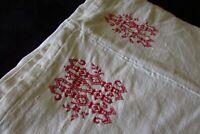 Antique French Slubby Hand Woven Chanvre Linen Sheet Fabric Centre Seam c1800s