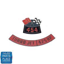 Chevrolet 454 Flags 425 Horsepower Air Cleaner Diecast Emblem Set