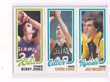 1980-81 TOPPS #67 - #183 BOBBY JONES / #37 CHRIS FORD / #66 JOE HASSETT