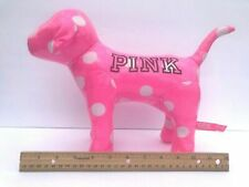 "*Rare* Victorias Secret Pink Shiny Polka Dot Dog Large Size 10""x13"" Brand New"