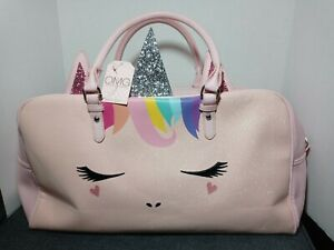 OMG Pink Unicorn Duffel Bag