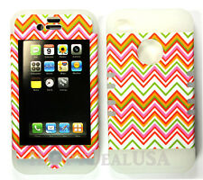 KoolKase Hybrid Armor Silicone Cover Case for Apple iPhone 4 4S - Chevron 99