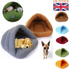 UK Puppy Pet Cat Dog Nest Bed Cozy Soft Warm Cave House Sleeping Bag Mat Pad Bed