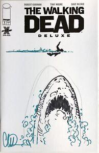 "Walking Dead Deluxe #1 Blank Cover w/Charlie Adlard ""Zombie"" Jaws Homage Sketch"