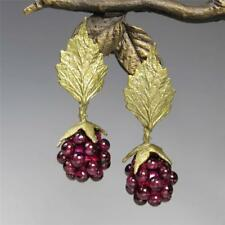 Michael Michaud Silver Seasons Raspberry Leaf Top Post Earrings Handmade in USA