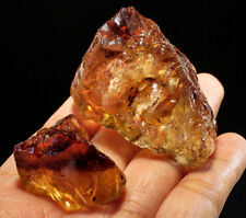 534Ct Natural Brazilian Brown Golden Imperial Topaz Specimen Facet Rough YTZH73