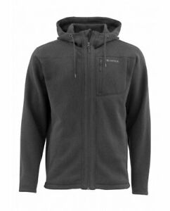 SIMMS Rivershed Hoody Jacket. Black S. Very Warm Fleece - 250 g/m
