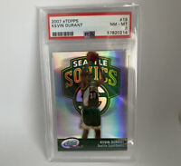 2007 eTopps Kevin Durant #/1499 REFRACTOR Rookie RC e-Topps SP PSA 8 NM Mint