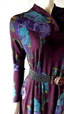 Designer Vintage MISSONI Wool Knit Tent Dress sz M L Graphic Floral Orange Label