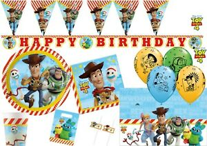 Toy Story 4 Party Decorations Tableware Plate Happy Birthday Balloons