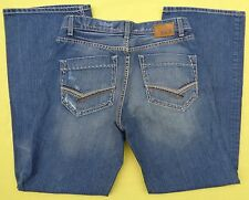 BKE The BUCKLE Relaxed Bootcut TYLER Distressed Denim Blue Jeans Mens 32 x 32 A+