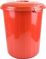 High Quality - 25L Red Plastic Indoor Outdoor Garden Rubbish Dustbin Locking Lid
