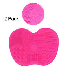 Makeup Brush Cleaning Mat Set of 2 Cosmetic Brush Washing Tool with Suction Cup