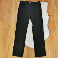 Marks & Spencer Women's Trousers Black Size 10 Cotton Mix Bootleg Cord VGC