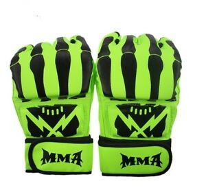 Fighting Tiger Muay Thai MMA Boxing Fluorescent Gloves Leather Sport Fight Sanda