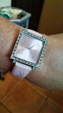 Stainless Steel Pink watch with Clear Crystals Watch