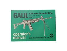 GALIL 5.56 / .223 IMI Manual Operating & Maintenance IN ENGLISH