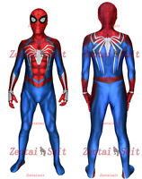 PS4 Spiderman Costume 3D Printed Spandex Spider-Man Cosplay Suit For Adult/Kids