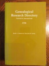 Genealogical Dictionary: National and International 1998