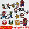 Super Mario Bros Game comic Cartoon Patches Badges Iron On Sew On