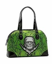 Frankenstein Lace Green Horror Halloween Rockabilly Rocker Punk Goth Handbag
