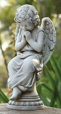 "17""H Angel Seated on Pedestal Outdoor Garden Statue Joseph's Studio # 65976"