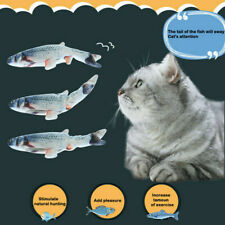 Electric Usb Chaging Pet Cat Toys Realistic Interactive Fish Funny Cat Toys Us