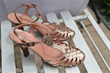 luxueux escarpins talons 75 mm cuir rose métal JONAK pointure 36 TOUTES NEUVES