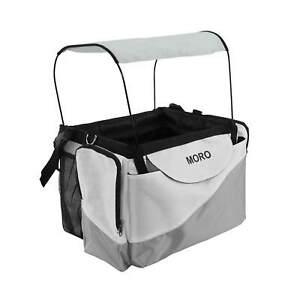 Dog Pet Travel Booster Bag Bicycle Front Basket Firm Cat Carrier+Safety Belt