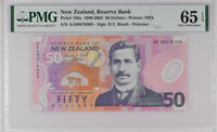 NEW ZEALAND 50 DOLLARS 1999 POLYMER P 188 a GEM UNC PMG 65 EPQ