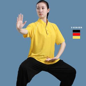 Linen Kung Fu Tai Chi T-Shirt Tops Pants Cool Martial Arts Wingchun Uniform Suit