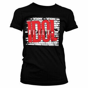Officially Licensed Billy Idol Logo Women's T-Shirt S-XXL Sizes