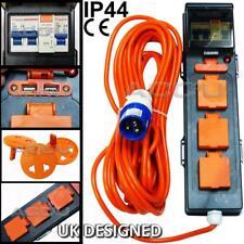 Caravan Camping Site 5 Way Mobile Mains USB Power Hookup Extension Lead RCD Unit