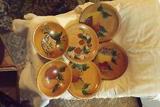 Decorative Wooden Plates & Bowls Vintage Fruit Design