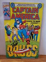 Captain America Goes to War Against Drugs (1990 Giveaway) signed by Stan Lee COA
