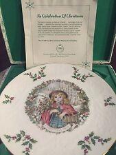 Royal Doulton 1978 Bone China Christmas Collector Plate In Original Hinged Box