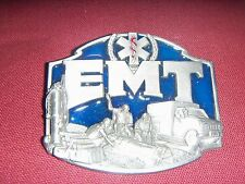 Siskiyou BELT BUCKLE Co. Pewter EMT First On The Scene Rescue Response USA