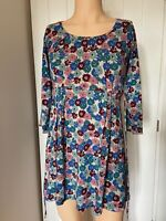 Seasalt Dress Tunic Top UK Size 10 Womens Ladies Green Blue Red Floral Summer 12
