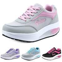 Damen Plateau Sneakers Halbschuhen Turnschuhe Runners Sportschuhe Freizeitschuhe