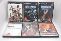 PS2 6 Games Set BIOHAZARD 4 Code:Veronica OUTBREAK 1 2 GUN SURVIVOR 2 & 4 Japan