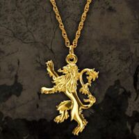 Game of Thrones Lannister Gold Plated Sterling Silver Pendant Necklace - Boxed