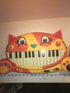 B Toys – Meowsic Toy Piano – Children's Keyboard Cat Piano with Microphone Works
